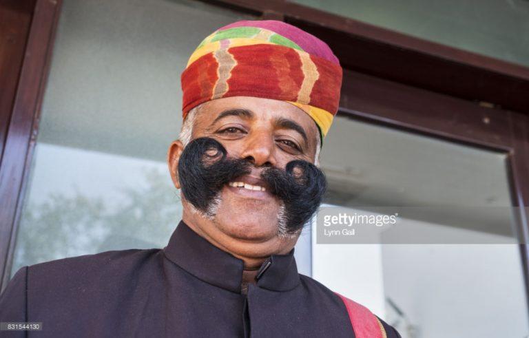 mustache doorman