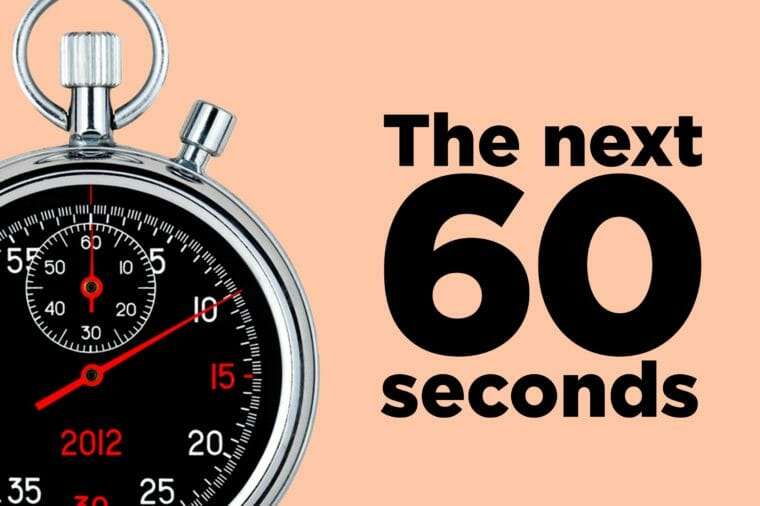 Things That Will Happen in the Next 60 Seconds